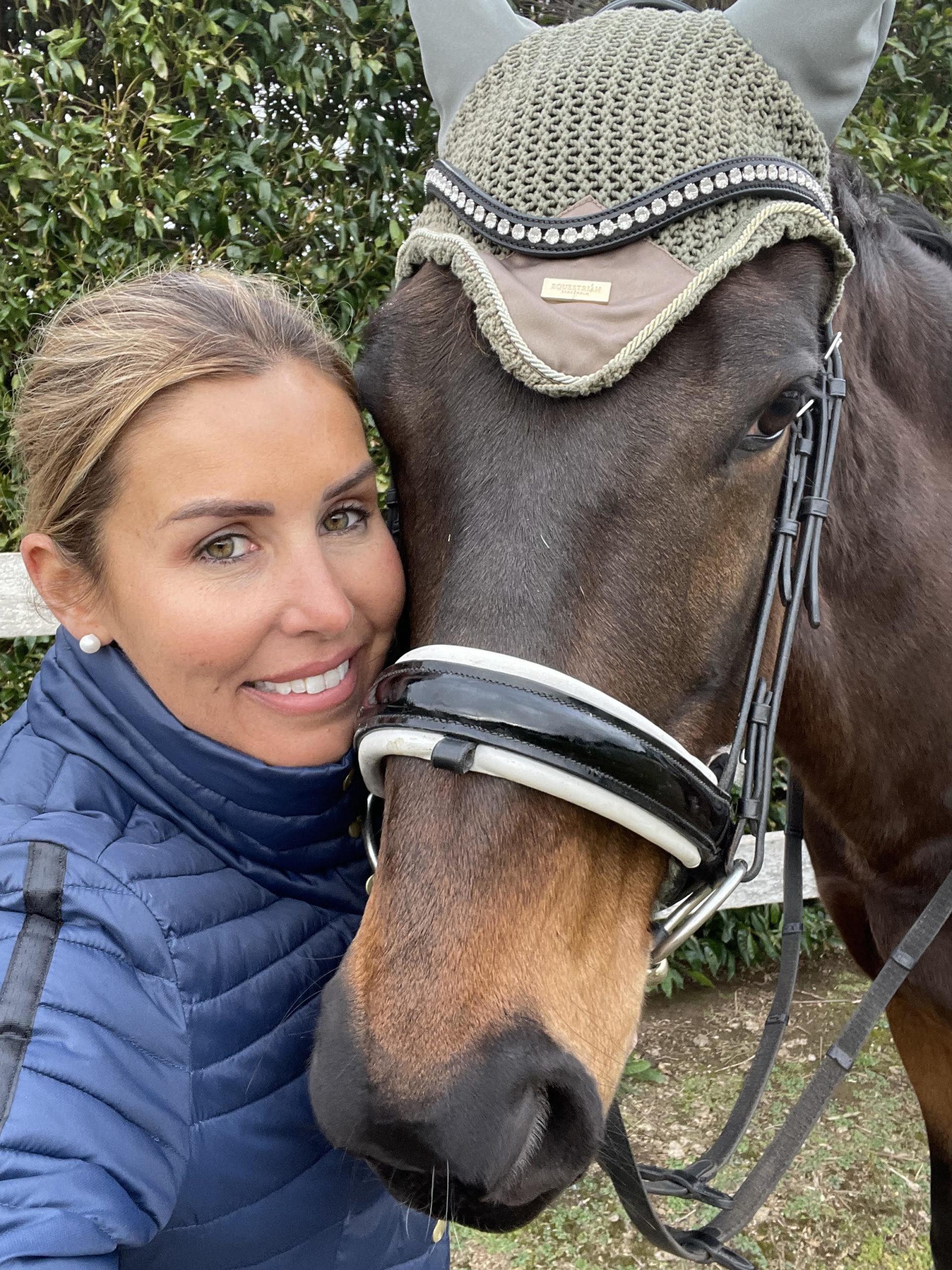 Alishia Griffiths riding horse